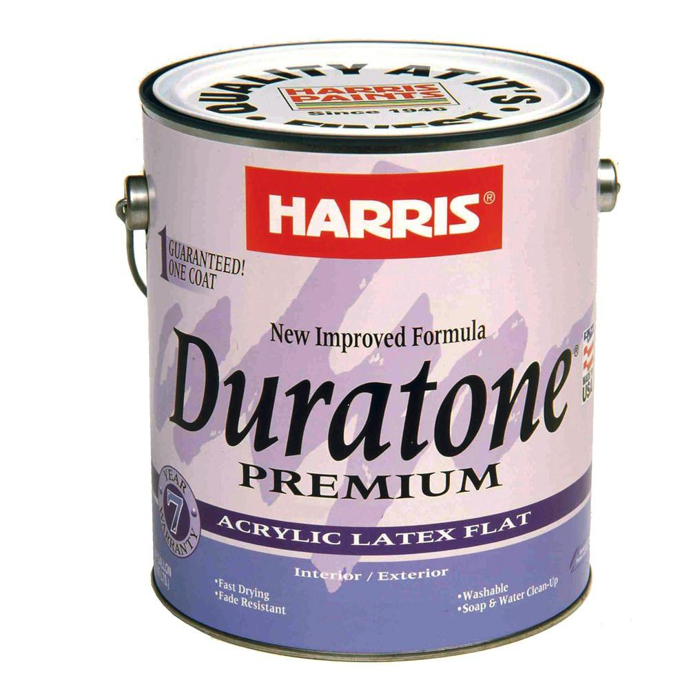 Harris Harris Duratone 1 gal. Flat Acrylic-Latex White Interior/Exterior Paint