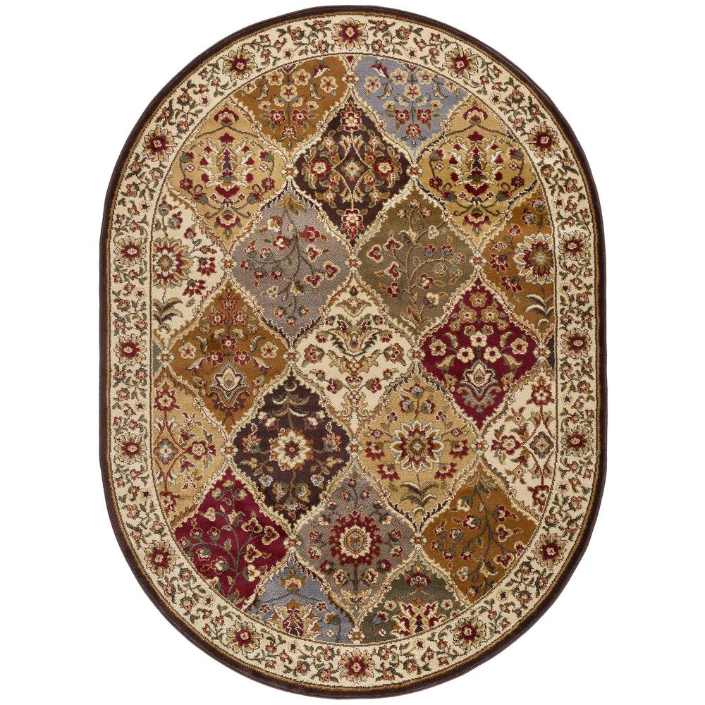 Orian Rugs Patchland Multi Paisley 6 Ft 7 In X 9 Ft 8