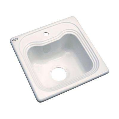 1 hole single bowl kitchen sink in almond   square   kitchen sinks   kitchen   the home depot  rh   homedepot com