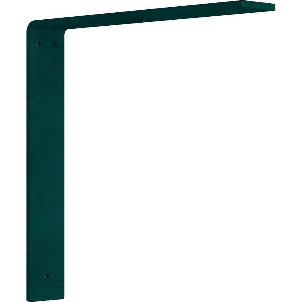 12 in. x 2 in. x 12 in. Steel Hammered Deep Green Hamilton Bracket