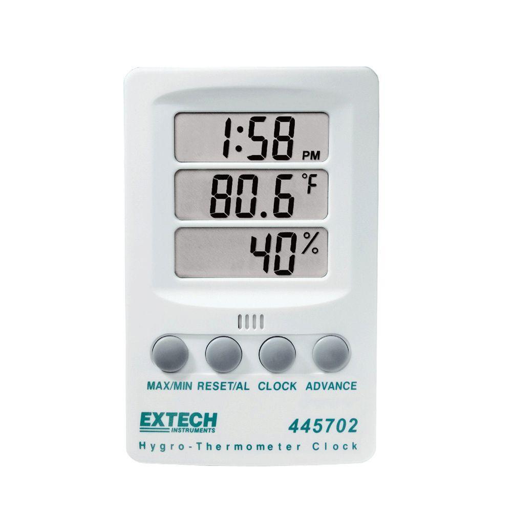 Extech instruments rh temperature indicator with clock - Exterior painting temperature minimum ...