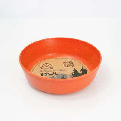 16 oz. Orange Bamboo Bowl (6-Pack)