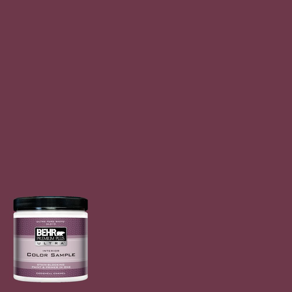 Behr Premium Plus Ultra 8 Oz Ppu1 14 Formal Maroon