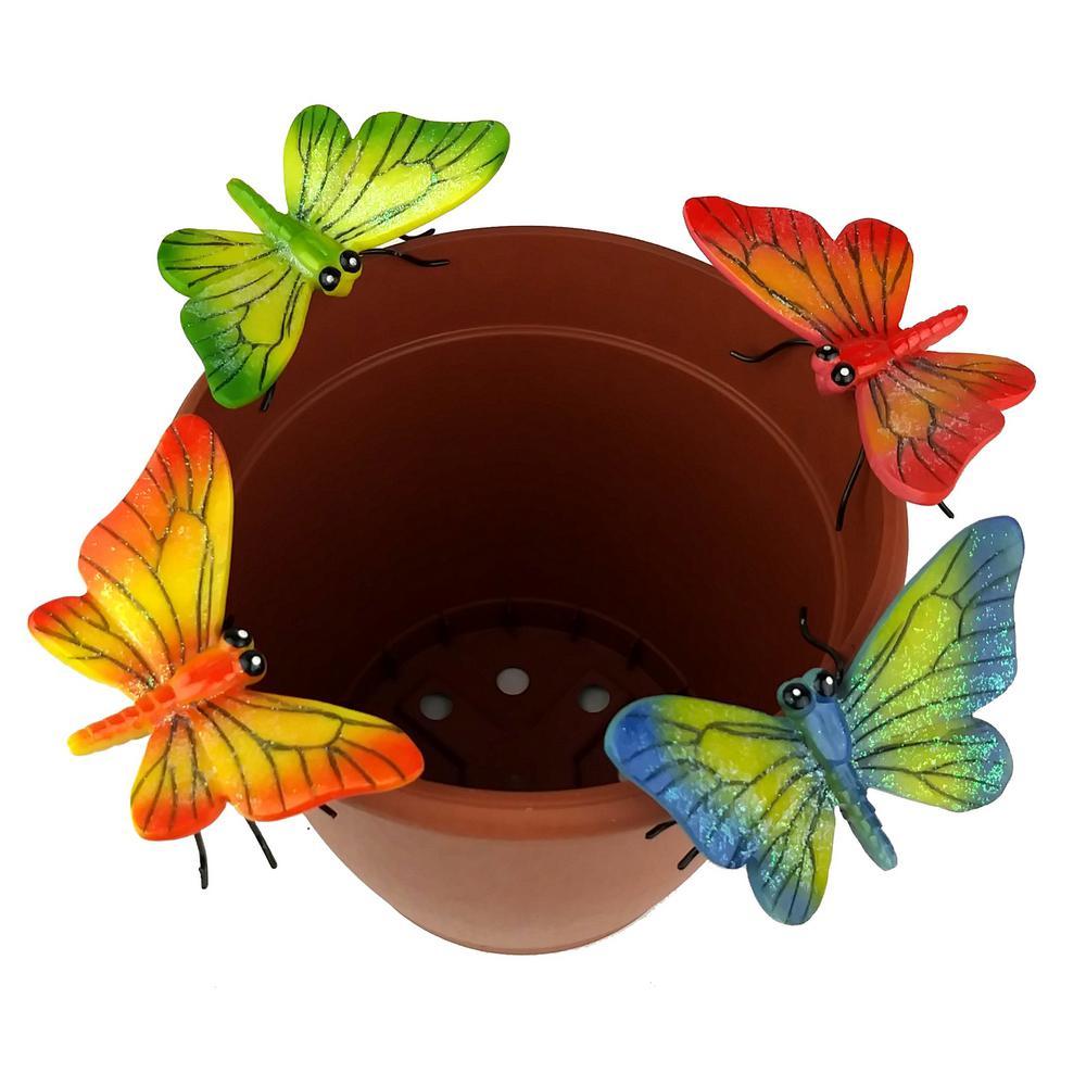 225 & 4-Piece Butterfly Flower Pot Sitter Hanger
