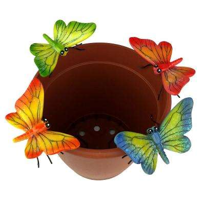 4-Piece Butterfly Flower Pot Sitter Hanger
