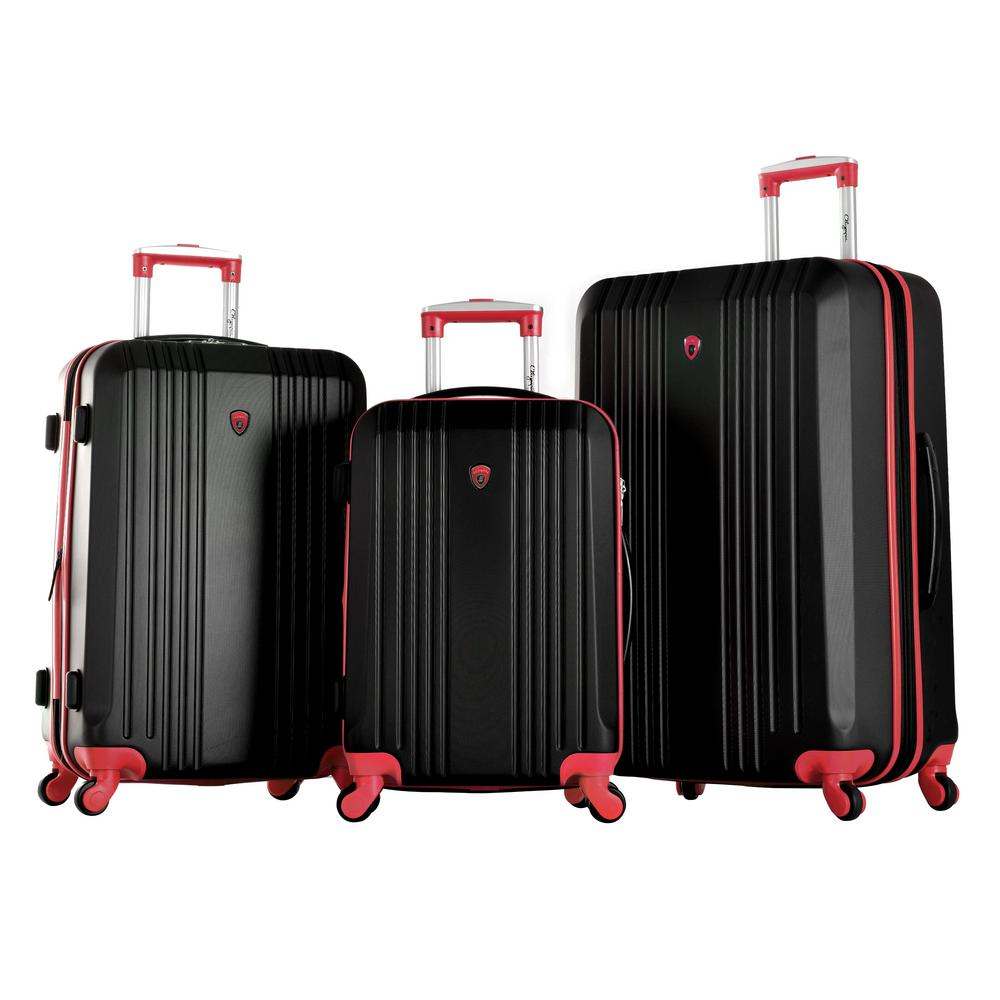 Apache II 3-Piece Expandable Spinner Set, Black And Red