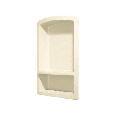 Recessed Solid Surface Soap Dish in Pebble