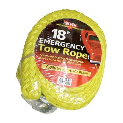 18 ft. x 7/8 in. x 6,000 lbs. Tow Rope