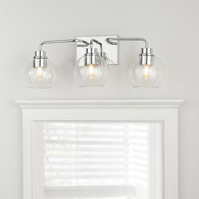 Lawrence 3-Light Polished Chrome Vanity Light