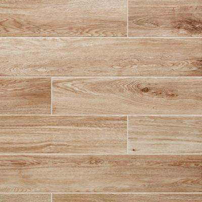 Trace Meadow 6 in. x 36 in. Golden Brown Glazed Porcelain Floor and Wall Tile (14.5 sq. ft. / case)