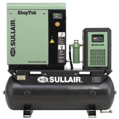 ShopTek 7.5 HP 3-Phase 230-Volt 80 gal. Stationary Electric Rotary Screw Air Compressor with Refrigerated Dryer