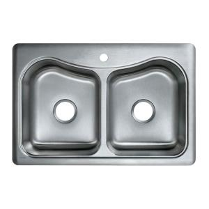Kohler Staccato Drop In Stainless Steel 33 In 1 Hole
