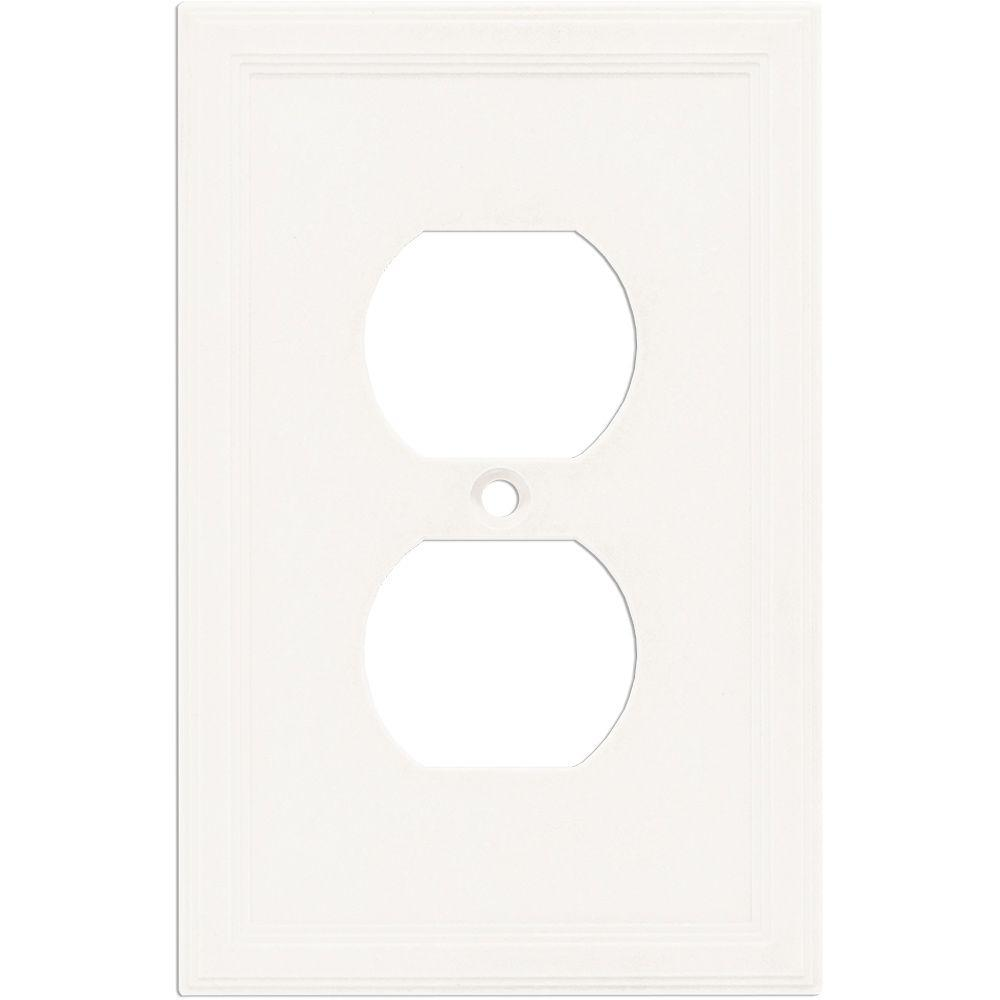 1 Gang Duplex Wall Plate - Bright White