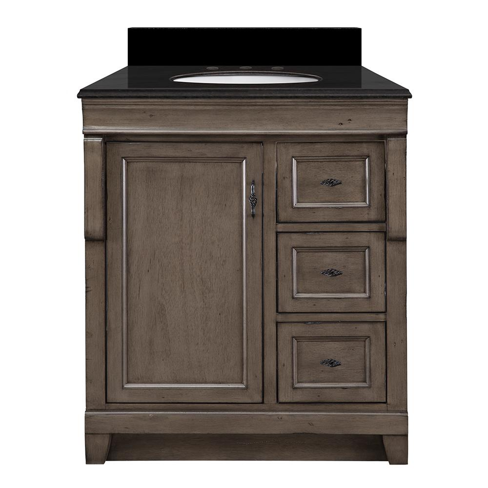 Naples 31 in. W x 22 in. D Vanity in Distressed