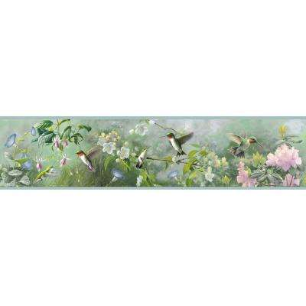 Weatherby Mint Ruby Mint Wallpaper Border Sample