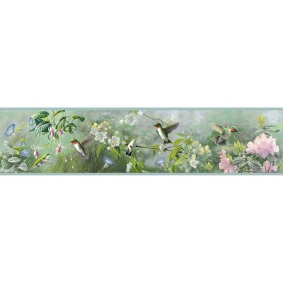 Weatherby Mint Ruby Wallpaper Border Sample