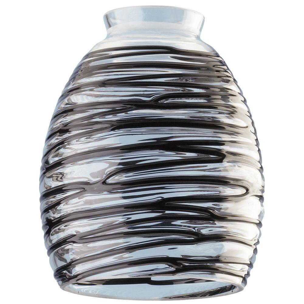 Westinghouse 5-3/4 in. Handblown Clear with Black Rope Sh...