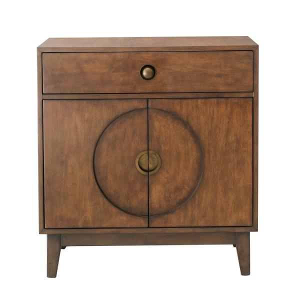 HomeFare Mid-Century Modern Walnut Accent Chest DS-D193-007