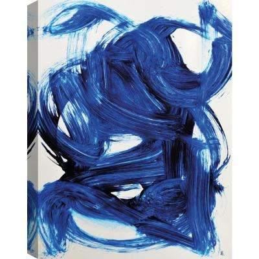 Blue Motion Canvas Print by ArtMaison Canada