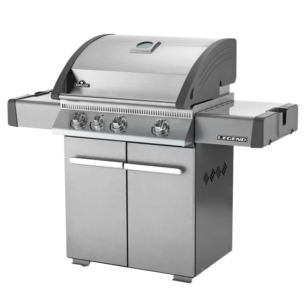 NAPOLEON 3-Burner Stainless Steel Natural Gas Grill with Infrared Rear Burner