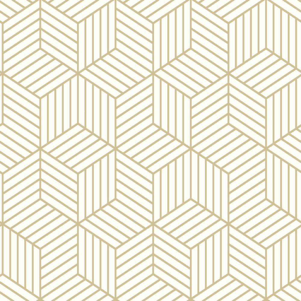 Roommates Stripped Hexagon Vinyl Peelable Wallpaper Covers 28 18 Sq Ft Rmk10704wp The Home Depot