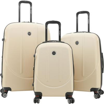 3-Piece Hard Side Expandable Rolling Vertical Luggage Set with Dual-Blade Spinner Wheels