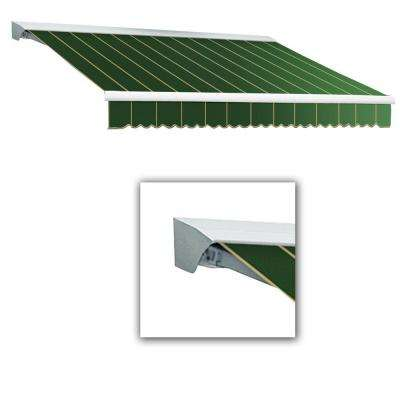 20 ft. LX-Destin with Hood Left Motor/Remote Retractable Acrylic Awning (120 in. Projection) in Forest Pin