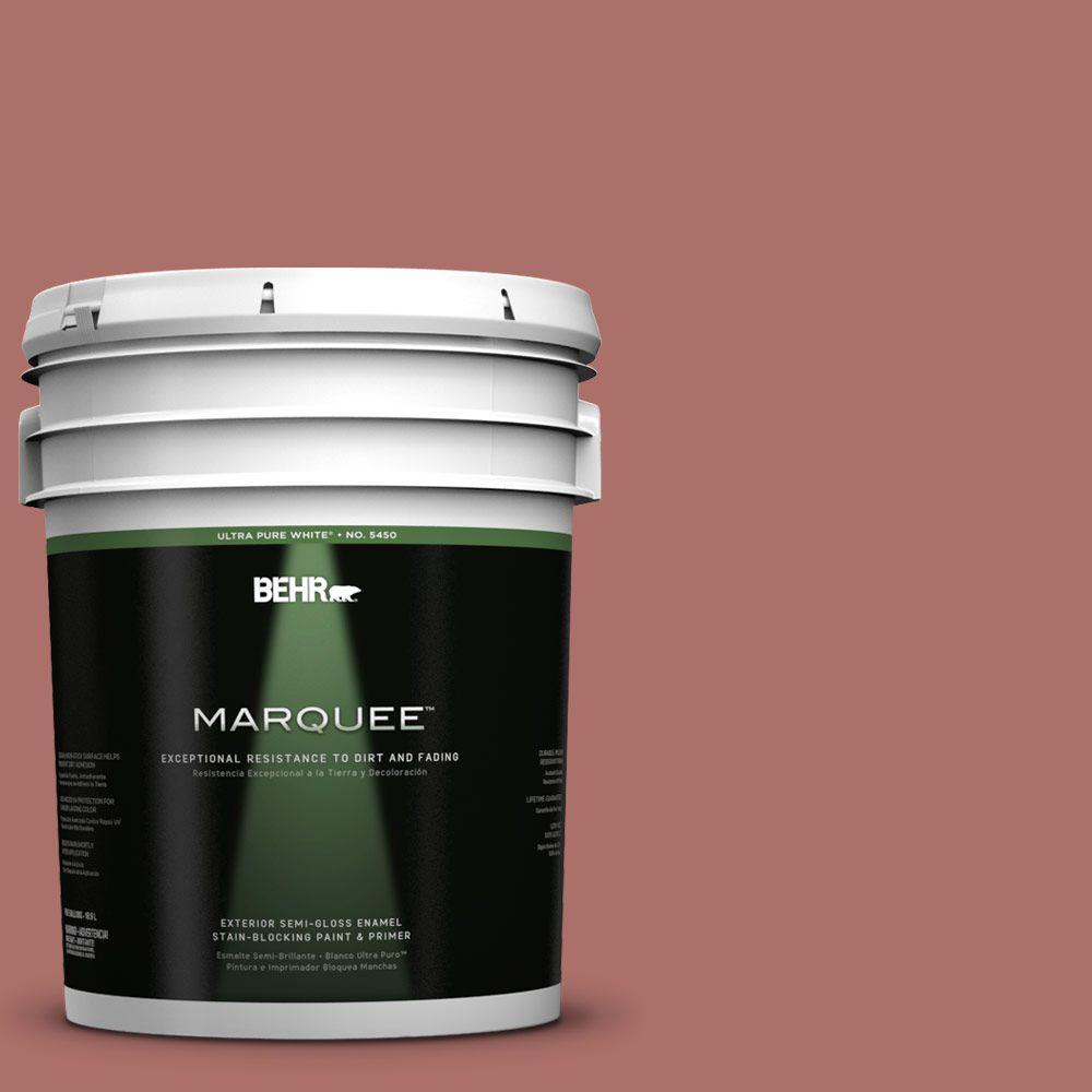 5-gal. #PMD-81 Tandoori Spice Semi-Gloss Enamel Exterior Paint