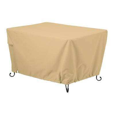 Terrazzo 56 in. Rectangular Fire Pit Table Cover