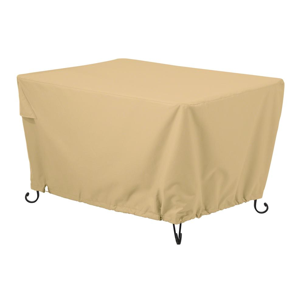 Classic Terrazzo 56 in. Rectangular Fire Pit Table Cover,...