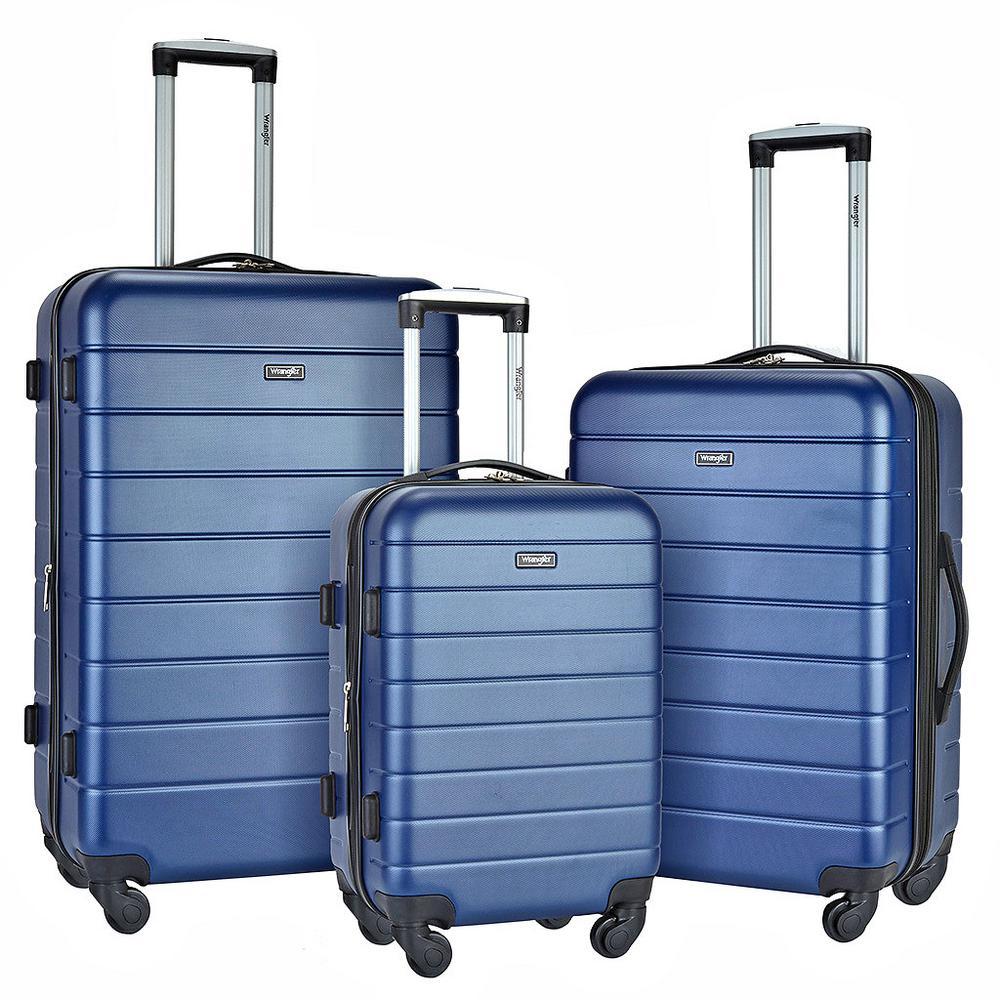 Wrangler 3 Piece USB Port Cup Holder Luggage Set