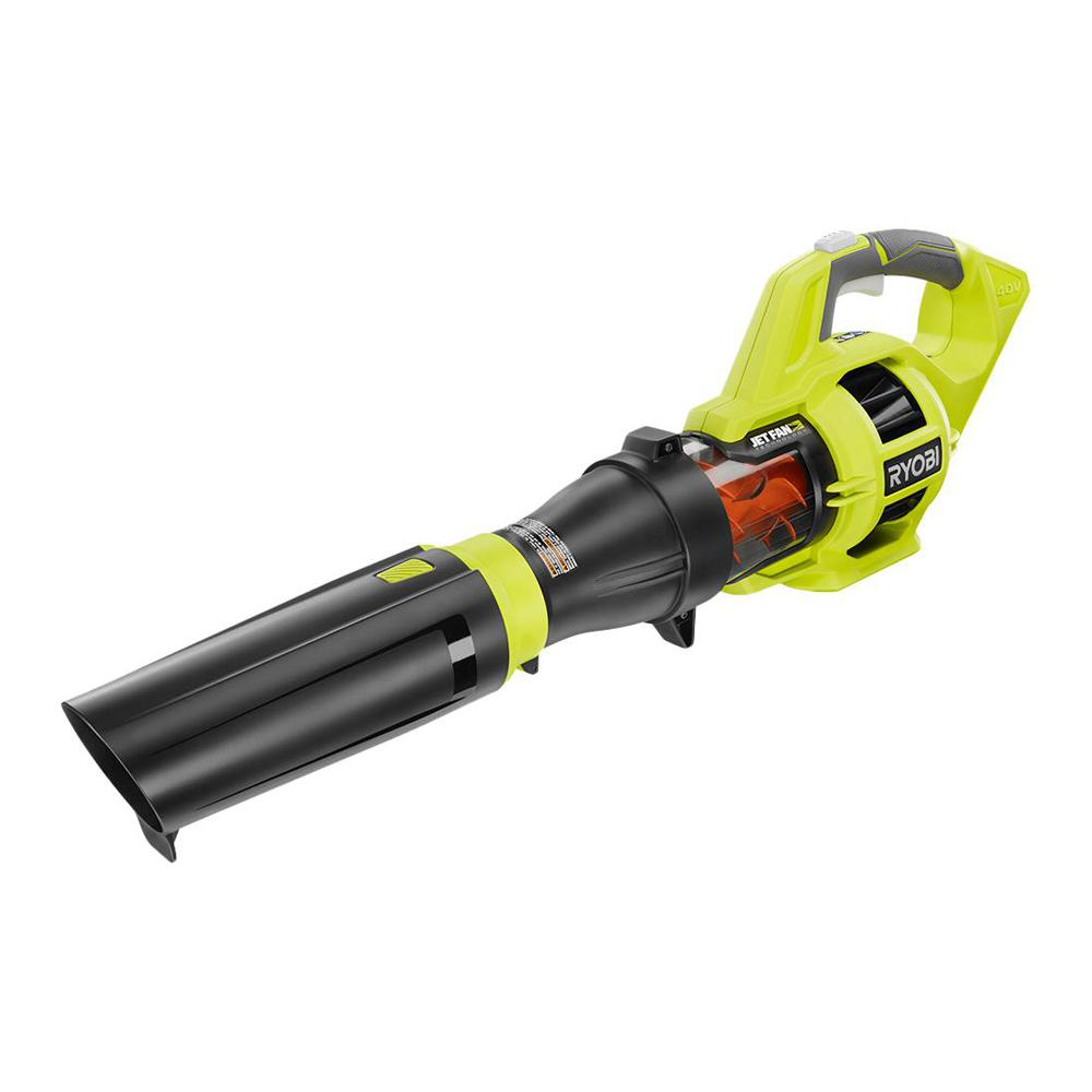 RYOBI 110 MPH 480 CFM Variable-Speed Turbo 40-Volt Lithium-ion Cordless Battery Jet Fan Leaf Blower (Tool Only)