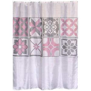 H Bastide Printed Polyester Fabric Shower Curtain 1200612