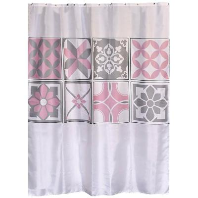 71 in. W x 79 in. H Bastide Printed Polyester Fabric Shower Curtain