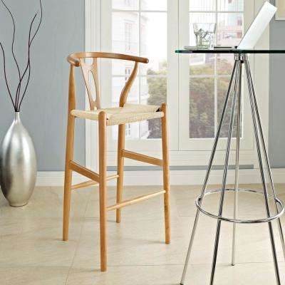 Amish 19 in. Wood Bar Stool in Natural