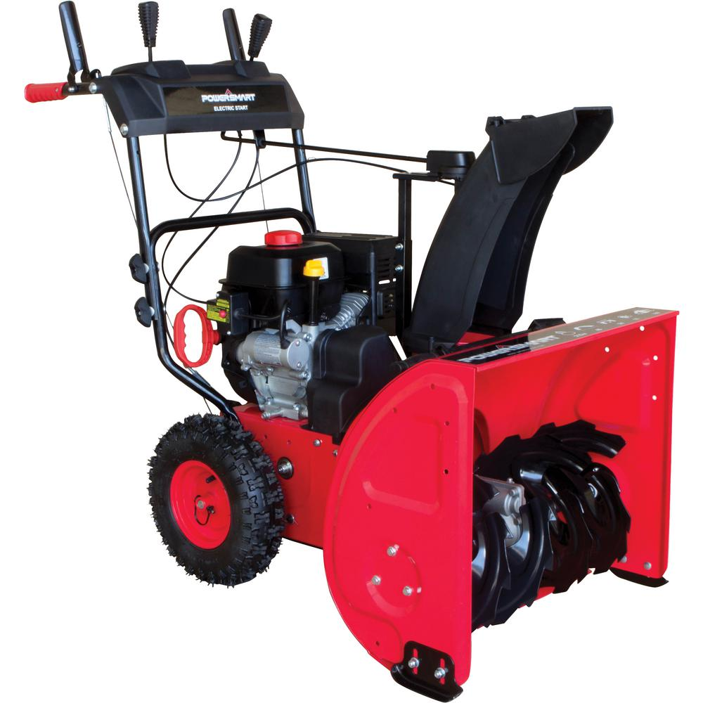 powersmart 24 in 212 cc two stage electric start gas snow blower