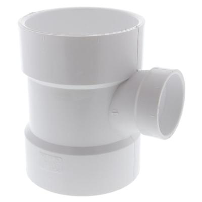 4 in. x 4 in. x 2 in. PVC DWV All Hub Sanitary Tee