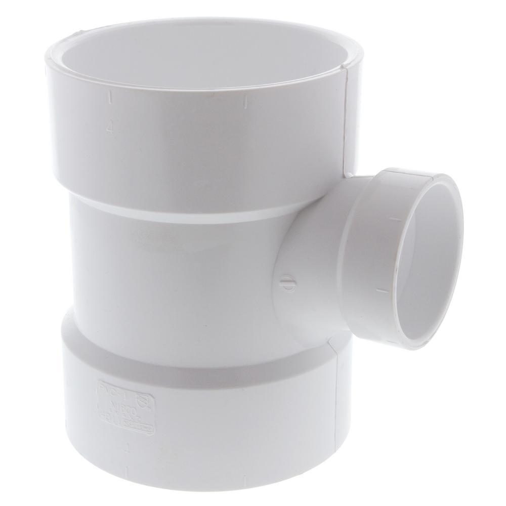 4 in. x 4 in. x 2 in. PVC DWV All Hub Sanitary Tee