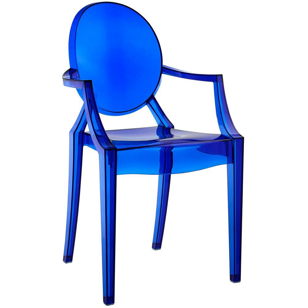 Casper Blue Dining Arm Chair