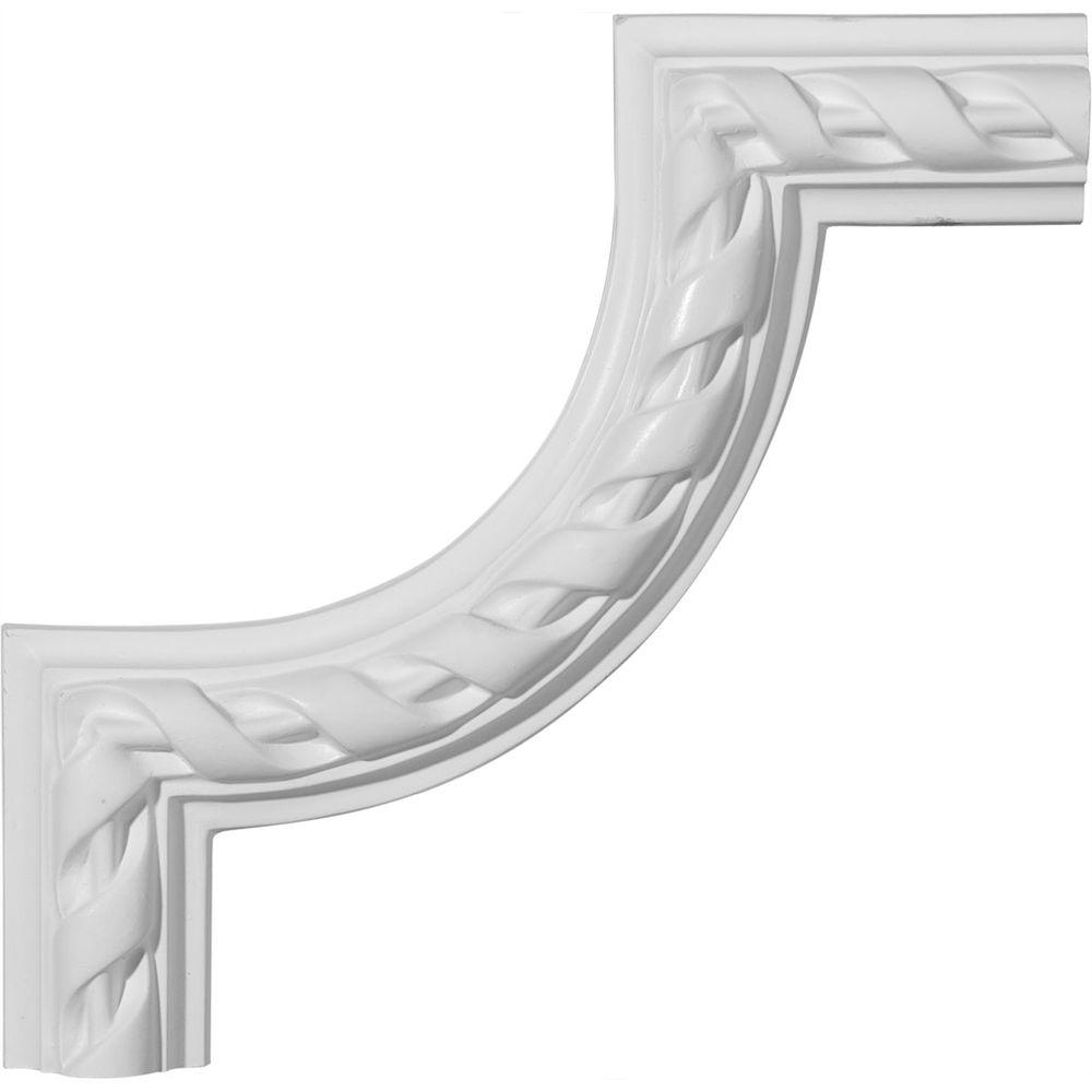Ekena 8-5/8 in. x 3/4 in. x 8-5/8 in. Jackson Panel Moulding Corner-DISCONTINUED