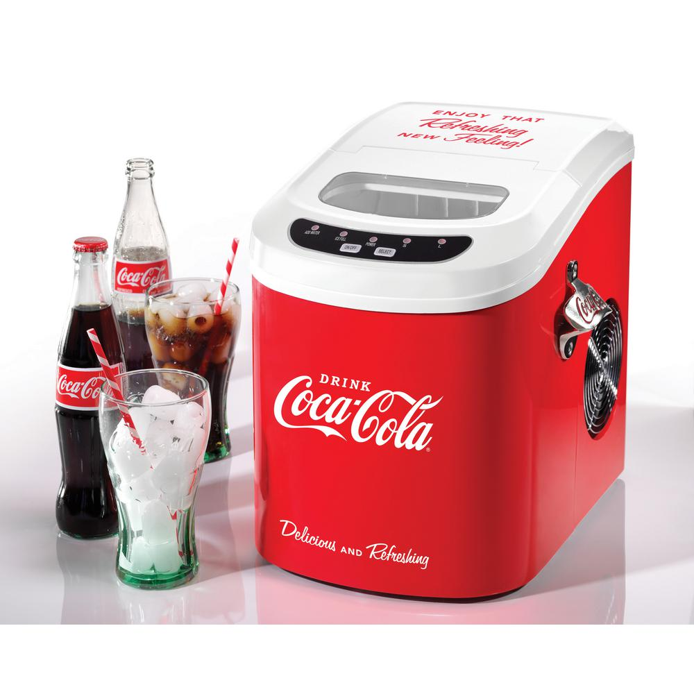 Coca-Cola Series 5 lb. Freestanding Ice Maker in Red