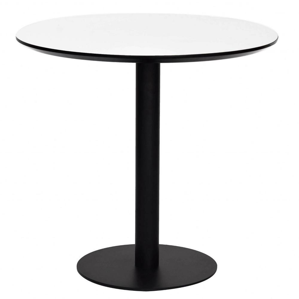 Amelia White MDF Round Dining Table