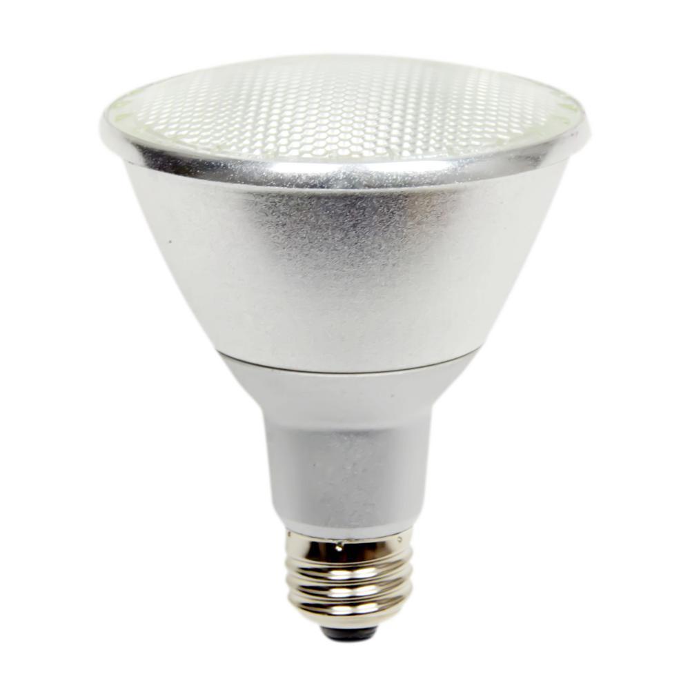 60-Watt Equivalent 10-Watt PAR30 Long Neck Dimmable LED Flood White Soft White Light Bulb 3000K 82959