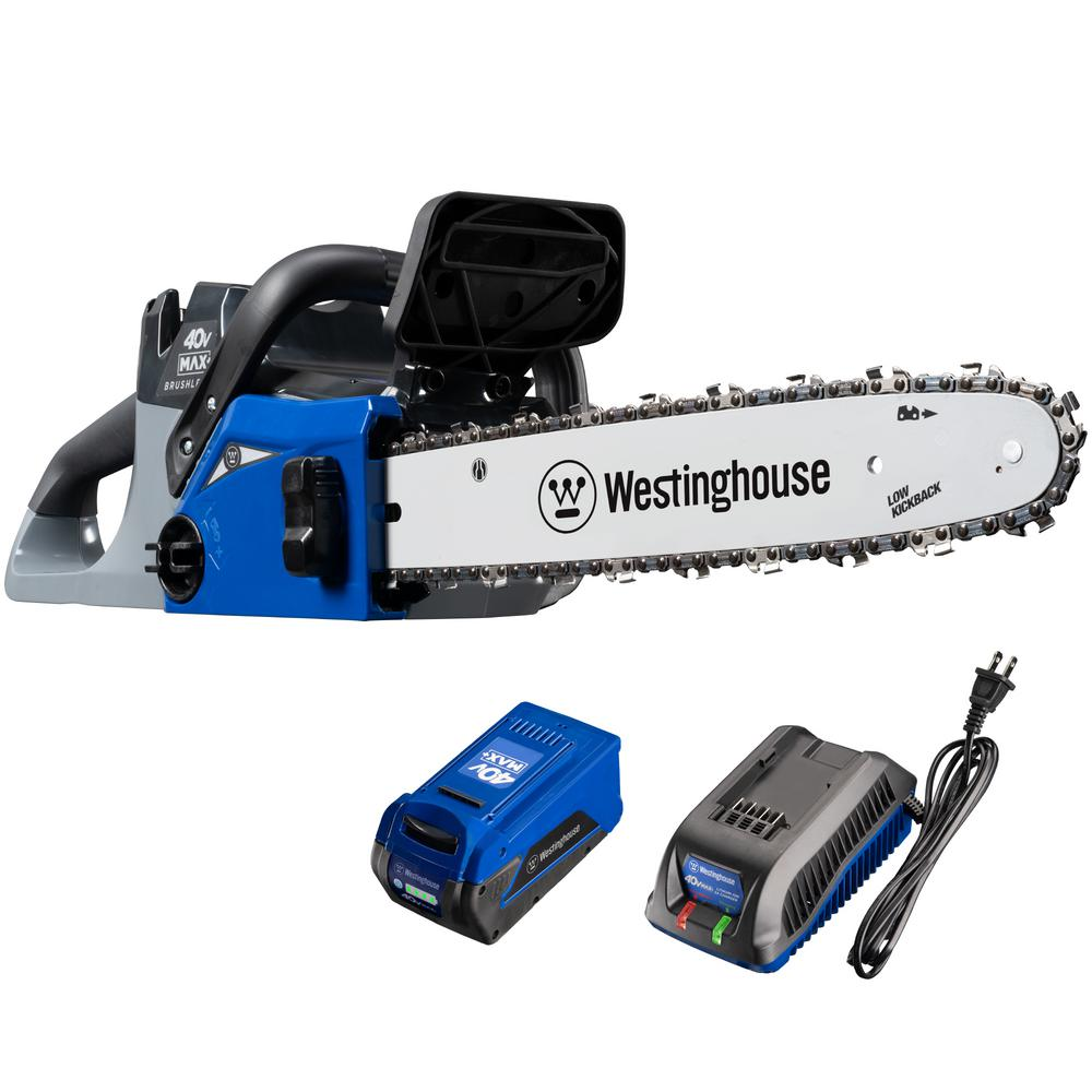 Westinghouse 40V Chainsaw with 4.0 Ah Battery and Battery Charger