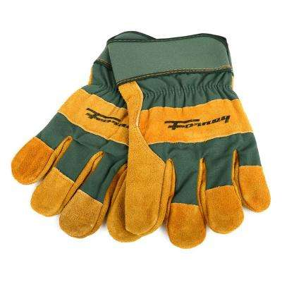 Premium Cowhide Leather Palm Gloves (Men's L)