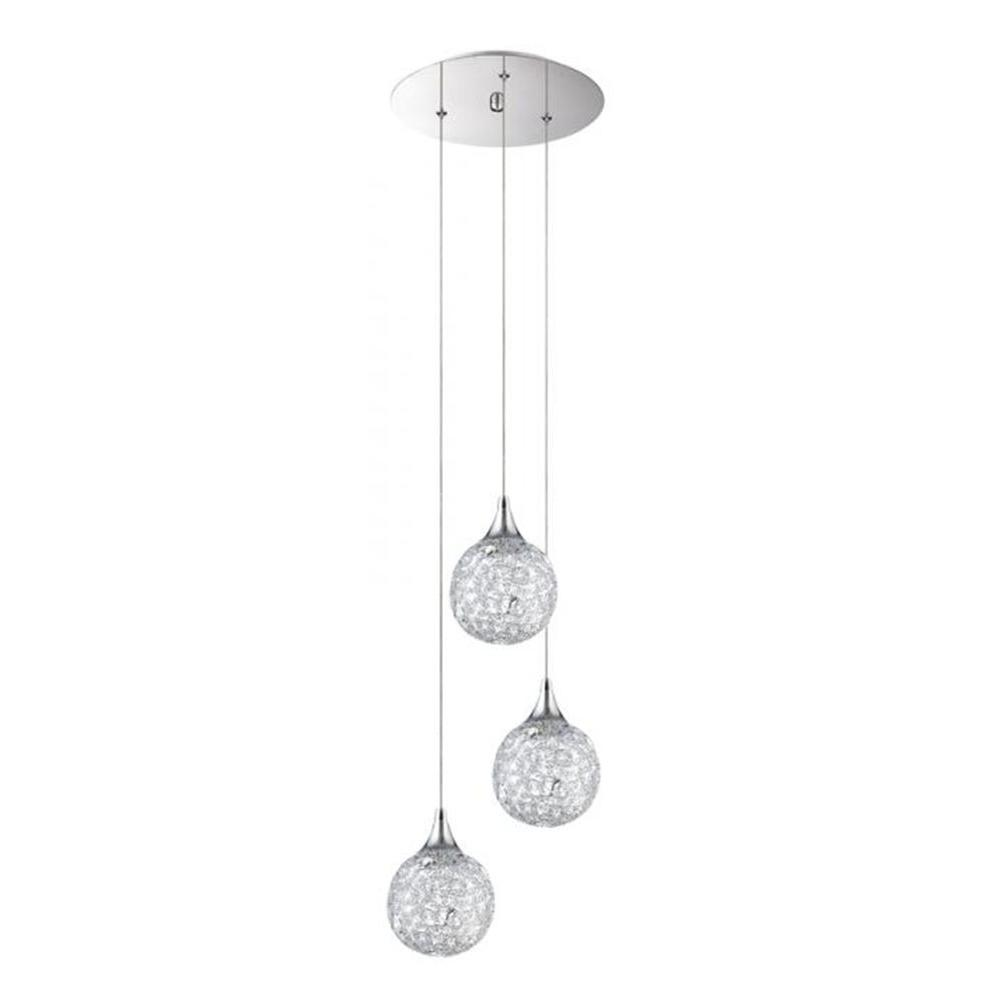 white htm multi share stainless steel with koge pendant ball cord lamp