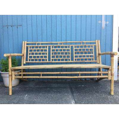 Natural Bamboo Standard Square Pattern Bench