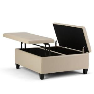 Superb Simpli Home Ellis 36 In Contemporary Square Storage Ottoman Gmtry Best Dining Table And Chair Ideas Images Gmtryco