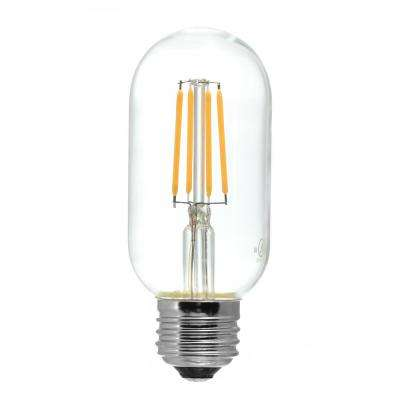 40-Watt Equivalent T14 Medium Base Dimmable Clear LED Light Bulb Warm White