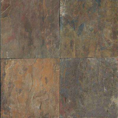 Rustique Earth 12 in. x 12 in. Gauged Slate Floor and Wall Tile (10 sq. ft. / case)